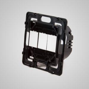 Touch-Screen 3-Circuit slēdzis, tālvadības pults un WIFI, 1000W, bez neitrāla