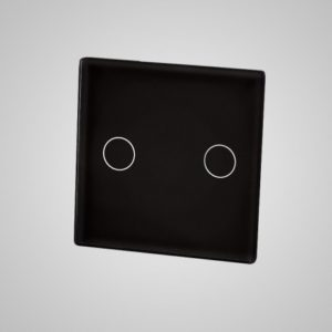 Mazs stikla panelis, divi virzieni (ar stikla un alumīnija rāmja slēdzi), melns, 47 * 47mm