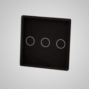 Mazs stikla panelis, trīs virzieni (ar stikla un alumīnija rāmja slēdzi), melns, 47 * 47mm