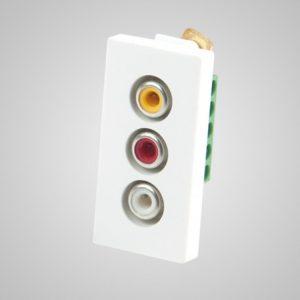 Audio & video slots, balts, 1/2