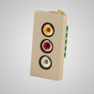 Audio & video slots, zelts, 1/2