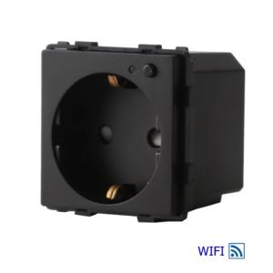 Socket pamatots, iebūvēts WIFI modulis, 16A, melns