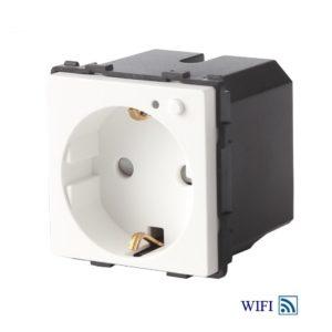 Kontaktligzda ar zemējumu, iebūvēts WIFI modulis, 16A, BALTS