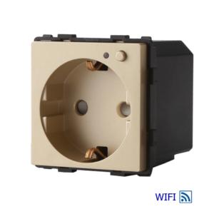 Sienas kontaktligzda, iebūvēts WIFI modulis, 16A, zelta